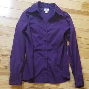 Worthington Deep purple button up size 12